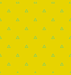 tile pattern with green triangles on yellow vector image vector image