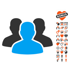 User group icon with dating bonus vector