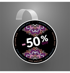 Wobbler design template autumn sale vector