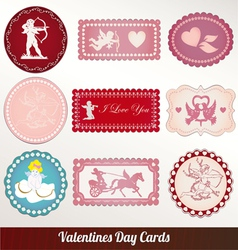 set card of valentines day vintage vector image