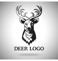 logo template with black deer head For vector image
