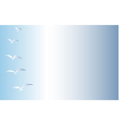 Sky with birds vector