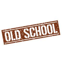 Old school square grunge stamp vector