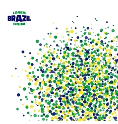 Abstract dot background using brazil flag colors vector