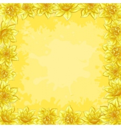 border from flowers vector image