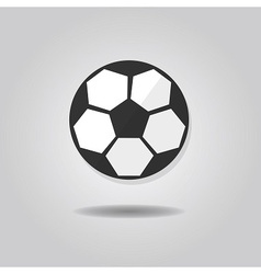 Abstract soccer ball icon with dropped shadow vector
