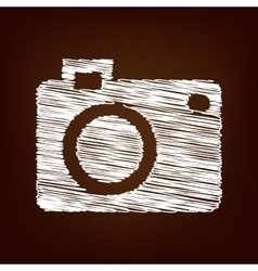 Scrible icon on the brown background vector