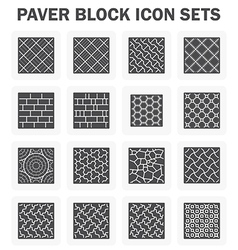 Block icon concrete vector