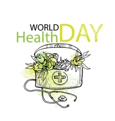World health day card elements vector