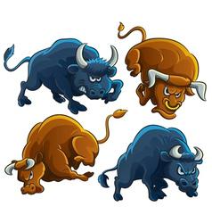Angry bulls vector