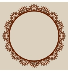 Abstract round frame with swirls vector