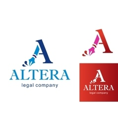 Letter a logo for business vector