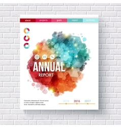 Abstract design on an annual report template vector image