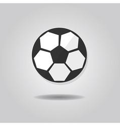 Abstract single soccer ball icon vector