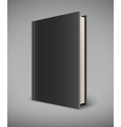 Book with black blank cover vector image vector image