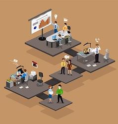 Business infographics isometrics vector