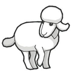 Cartoon cute sheep vector