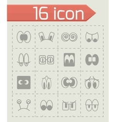 Cartoon eyes icon set vector