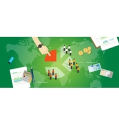 Customer segmentation segment business concept vector