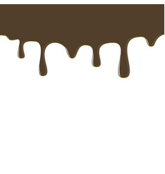 Dripping chocolate donut glaze background vector