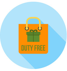 duty free luggage vector image vector image