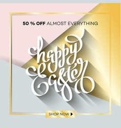 easter egg sale banner background template 12 vector image vector image