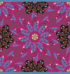 Flat flower elements design colour spring theme vector