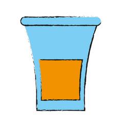 glass lemon draw vector image
