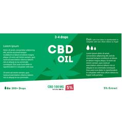 Green cannabis oil cbd oil marijuana leaf vector
