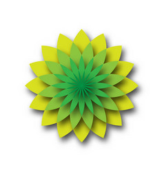 green lotus - symbol of yoga wellness beauty and vector image vector image