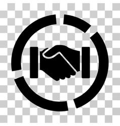 Handshake diagram icon vector