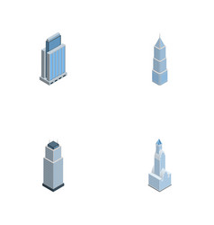 Isometric skyscraper set of urban tower vector