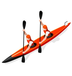 Kayak sprint doubles 2016 sports 3d vector