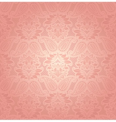 Lace pink floral background vector image