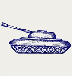 Main Battle Tank vector image