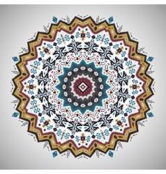 Ornamental roundgeometric pattern in aztec style vector