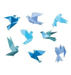 Paper pigeons and doves vector