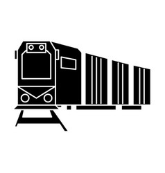 railway logistics train cargo icon vector image