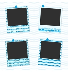 Sea photo frames vector image vector image