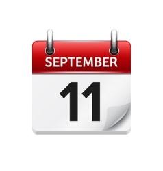 September 1 flat daily calendar icon vector