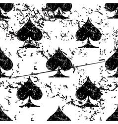 Spades pattern grunge monochrome vector image