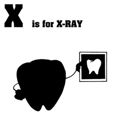 Xray cartoon silhouette vector