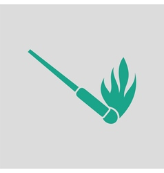 Burning matchstik icon vector
