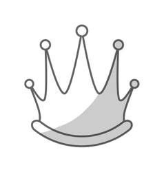 Queen crown icon vector