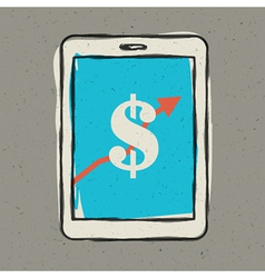 Earnings sign on smartphone screen vector