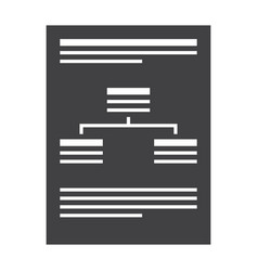 Business plan silhouette vector