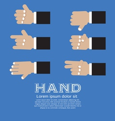 Hand Signs Set EPS10 vector image