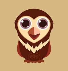 Little owl cute cartoon abstract prehistoric color vector