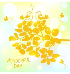 wonderful day vector image