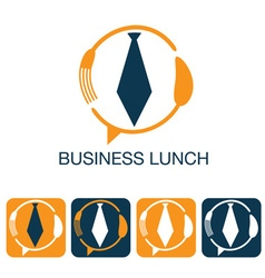 Business lunch and web icons set vector